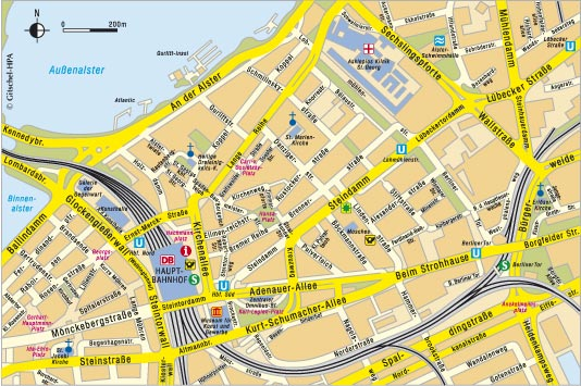 hamburg hauptbahnhof karte Hauptbahnhof Hamburg Karte | Kleve Landkarte